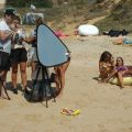 beach set filming actress algarve 3