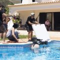 pool scene film shooting algarve