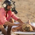 massage scene beach algarve film shooting closeup